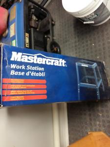 """Mastercraft Work Station  HEAVY GAUGE STEEL 30-33"""" H"""