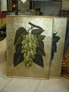 Oil Painting of grapes
