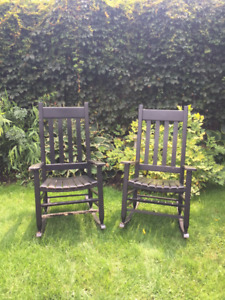 Wooden Outdoor Rockers (priced as a pair)