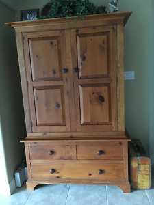 Beautiful Solid Pine TV Cabinet/Armoire