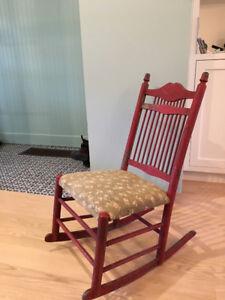 Antique nursery rocking chair