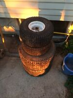 Riding lawnmower tires