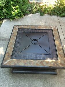 Outdoor wood burning fire pit - Allen + Roth - Gently Used