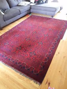 Hand Made Red Persian Area Rug 6.5ft x 9.5ft