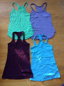 Lululemon tank tops, NEW condition, size 4! 4 tops = $60!! Strathcona County Edmonton Area image 1