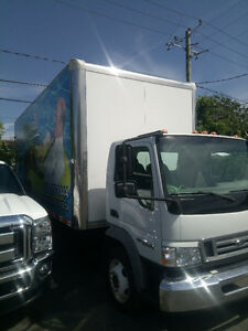 2009 Ford LCF with 20 foot box and ramp