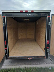 2014 US Cargo 6 x 12 V Nose Enclosed Trailer with Barn Doors