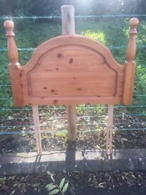 Single Bed Pine Headboard - ready for up cycling