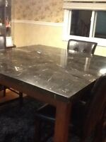 Real marble pub table