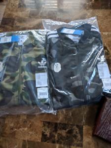 Bape x Adidas Track Jacket Large