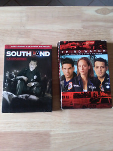 "Police show DVDs. ""Third watch"" and ""southland"""