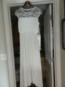 TWO DRESSES ONE OFF WHITE & ONE WHITE