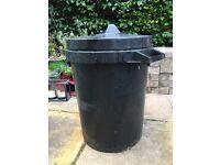FREE black rubbish bin