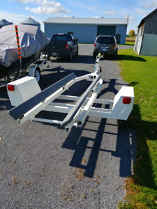 17-21 Foot boat trailer, New Paint, New Parts.