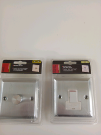 1 Single dimmer + 13A Switched fused spur