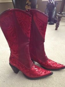Red Ladies Cowboy Boots