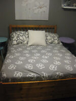 IKEA DOUBLE BED AND MATCHING DRESSER