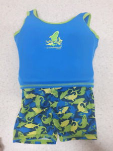 Boys bathing suit size 12 months with built-in floaty