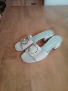 Sandales en suède Tan