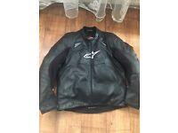 Alpinestars leather jacjet size 48/58