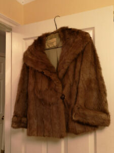 Vintage Fur Jacket, made by Offmans in Halifax