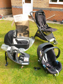 Travel system - carry cot, pram, car seat