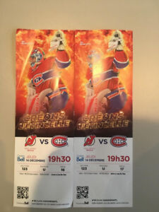 Two HABS vs New Jersey Devils tickets