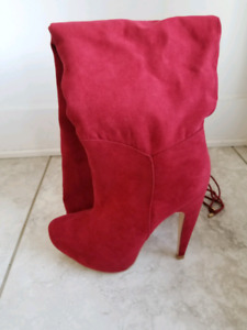 Red boots women