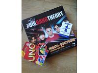 Board games (UNO, BigBangTheory) and cards
