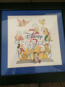 Disney 75th Anniversary Framed Collector Trading Pin Set LE Cambridge Kitchener Area image 2
