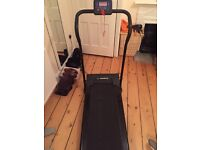Scarcely used Treadmill ''Confidence Fitness'' displaying speed , calories, time and distance