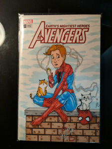 Spider-Man sketch cover comic