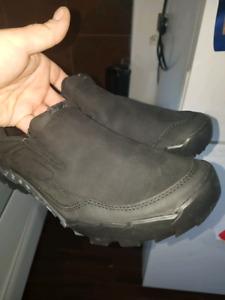 Never worn Merrel sued slip on hiking shoes