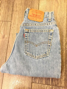 LEVIS 512 VINTAGE TAPERED HIGH RISE SZ 25W