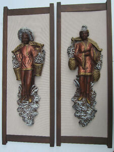 Wall Plaques, Set of two, Carrying water West Island Greater Montréal image 1