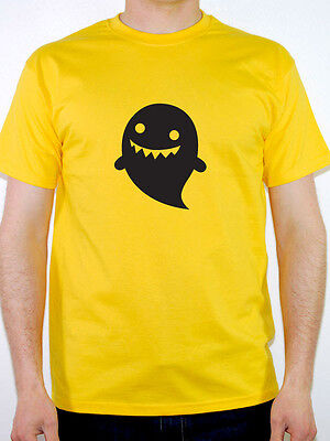 CARTOON GHOST SILHOUETTE - Halloween / Scary / Fun / Novelty Themed Mens T-Shirt - Halloween Cartoons Scary