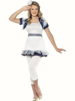 Teenage Dreams Miss Sailor Girl Fancy dress costume outfit size 4 6 Childs - Teenager Sailor Kostüm