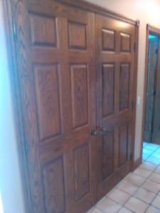 Oak doors solid wood