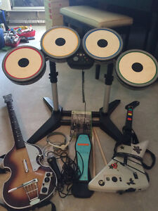 The Beatles ROCKBAND Full Bundle for XBOX 360 + Drums + Guitar