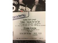 Fireball fuelling the fire Less than Jake ticket Birmingham