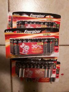 For sale 8 packages brand new double AA batteries