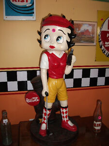 "Betty Boop Coca Cola coke poupée doll figurine 29"" GOLF"