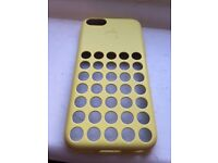 Iphone 5c apple case - yellow