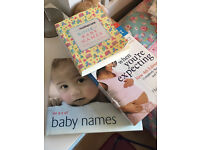 Pregnancy book and baby name book bundle