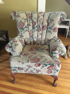 Matching Pair of Wingback Chairs