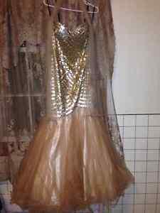 Gold Sequin Grad Dress - 150 OBO