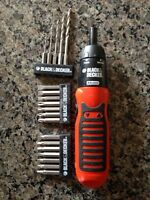 Black and Decker powered screwdriver
