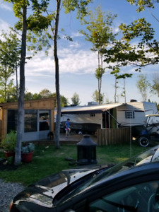 Roulotte  camping  atlantide