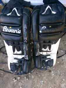 Goalie leg pads and glove for trade or sale