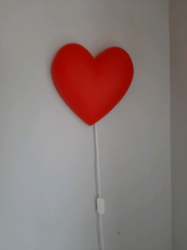 Night light, lamp, red heart from IKEA